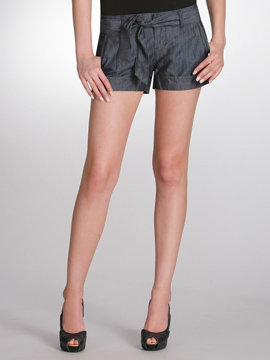 Self Sash Denim Short