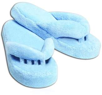 Homax Women's Memory Foam Therapeutic Toe Alignment Slippers - Blue