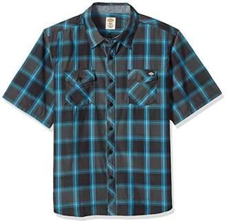 Dickies Men's Big-Tall Regular Fit Short Sleeve Fashion Pocket Plaid Shirt