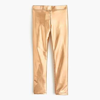 J.Crew Girls' everyday leggings in metallic