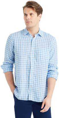 J.Mclaughlin Gramercy Regular Fit Linen Shirt in Gingham