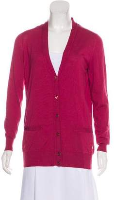 Saint Laurent Virgin Wool Long Sleeve Cardigan