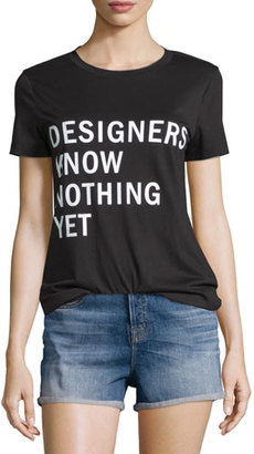 DKNY Designers Know Nothing Yet Jersey Tee, Black $158 thestylecure.com