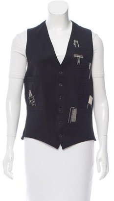 Paul Smith Embroidered Wool Vest $65 thestylecure.com