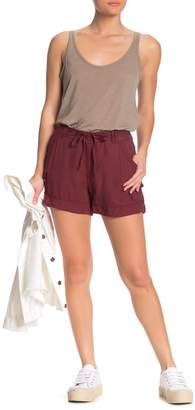 Democracy Solid High Waisted Utility Shorts