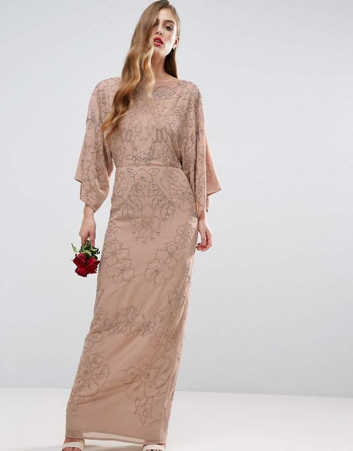 AsosASOS WEDDING Embellished Kimono Maxi Dress