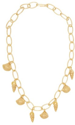 Aurelie Bidermann Panama Shell Charm 18kt Gold Plated Necklace - Womens - Gold