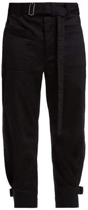 Proenza Schouler Pswl - Utility Cotton Twill Slouchy Trousers - Womens - Black