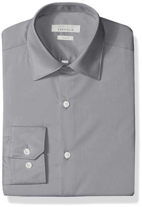 Perry Ellis Men's Slim-Fit Wrinkle-Free Solid Twill Dress Shirt