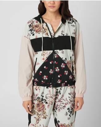 Juicy Couture Secret Garden Floral Nylon Track Jacket
