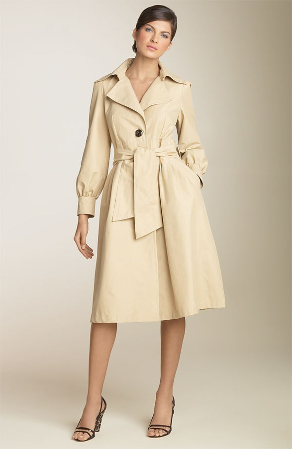 Laundry by Shelli Segal Single Breasted Trench