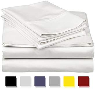 True Luxury 100% Egyptian Cotton - Genuine 1000 Thread Count 4 Piece Sheet Set- Color White