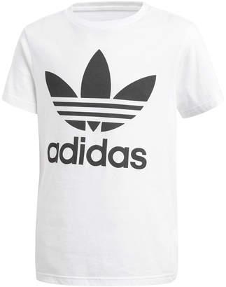 adidas adicolor Logo-Print Cotton T-Shirt, Big Boys