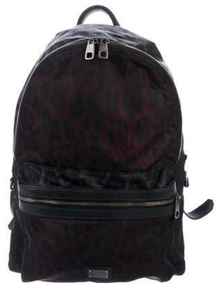 Dolce & Gabbana Animal-Print Nylon Backpack