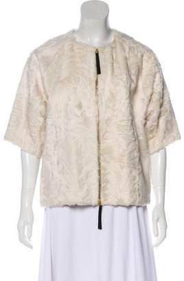 Marni Short Sleeve Fur Jacket