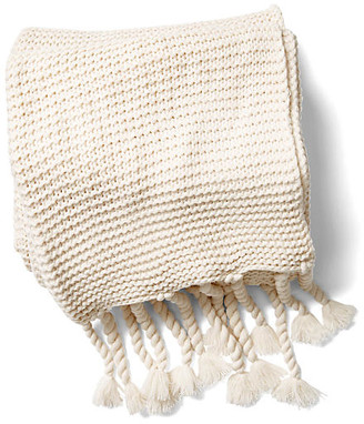 Pom Pom at Home Trestles Acrylic Throw - Antiqued White