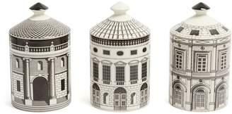 Fornasetti Set of three Architettura Otto scented candles