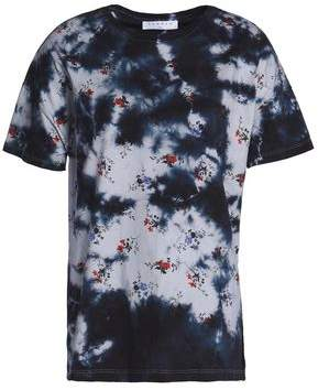 Sandro Moria Floral-Print Tie-Dyed Cotton-Jersey T-Shirt