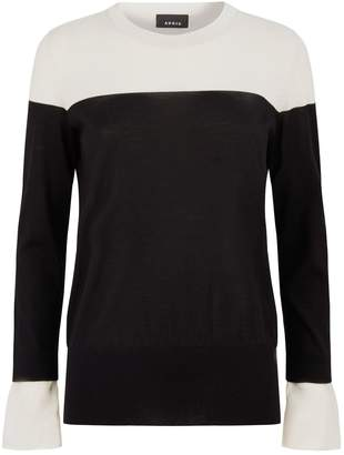 Akris Cashmere Two-Tone Sweater
