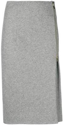 Peserico side pleat midi skirt