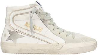 Golden Goose Slide White Leather Sneakers