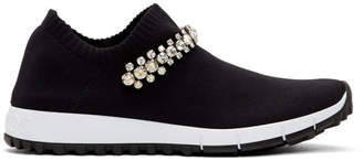 Jimmy Choo Black Crystal Verona Sneakers