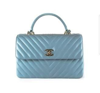 705f53adc Chanel Bowling Bag Blue Leather Handbag