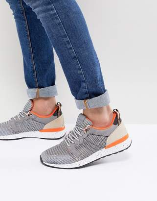 Aldo Greiman Knitted Trainers In Grey