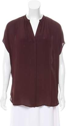 Vince Oversize Button-Up Top