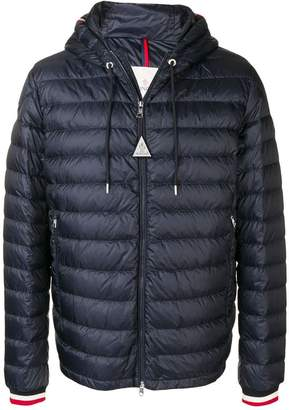Moncler quilted shell hooded jacket