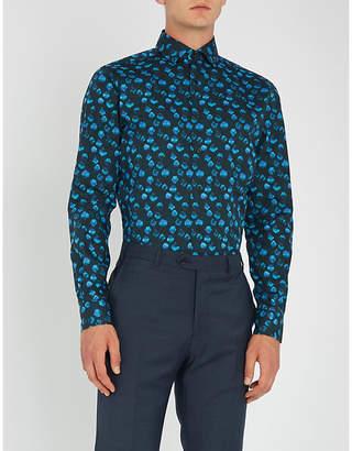 Duchamp Polka dot slim-fit cotton shirt