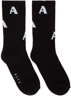 Alyx Black Triple A Socks