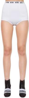 Logo Band Viscose Knit Mini Shorts