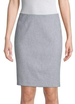 T Tahari Aspen Pinstripe Pencil Skirt