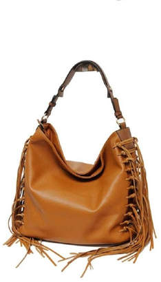 At Tiques Mc Handbags Leather Fringe Hobo