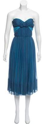Chloé Silk Strapless Evening Dress