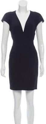 Alexander McQueen Cap Sleeve Mini Dress