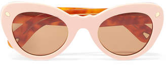Cat Eye Lucy Folk - Wingspan Two-tone Cat-eye Acetate Sunglasses - Pink