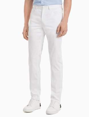 Calvin Klein New Essentials Slim Fit 5-Pocket Stretch Sateen Pants