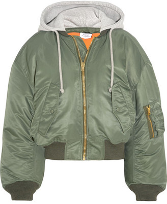 Vetements - Shell Hooded Bomber Jacket - Army green $2,390 thestylecure.com