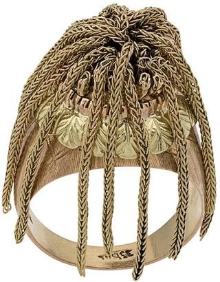 Katheleys Vintage 18kt gold and 18kt rose gold Fringe Victorian US ring