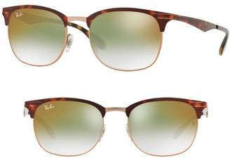 Ray-Ban Highstreet 53mm Clubmaster Sunglasses
