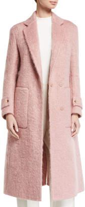 Agnona Long Boucle Mohair Coat