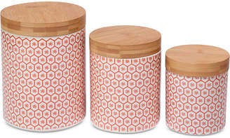 Certified International Chelsea Mix & Match Honeycomb Canisters, Set of 3