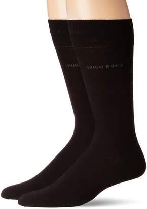 HUGO BOSS Men's 2-Pack Solid Combed Cotton Sock