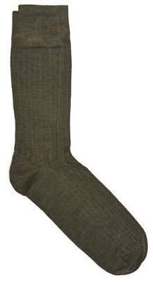 Corgi Solid Dress Socks in Forest Green