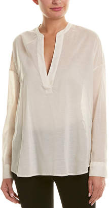 James Perse Chiffon Silk-Blend Pullover Tunic
