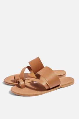 fef4c1216 Topshop Womens Honey Tan Flat Sandals - Tan