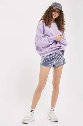 Topshop Velour Running Shorts