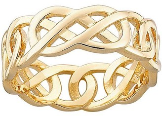 Celtic Generic Knot Gold-Plated Wedding Band